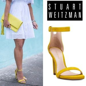 🆕Stuart Weitzman Square Nudist 75mm Ankle Strap